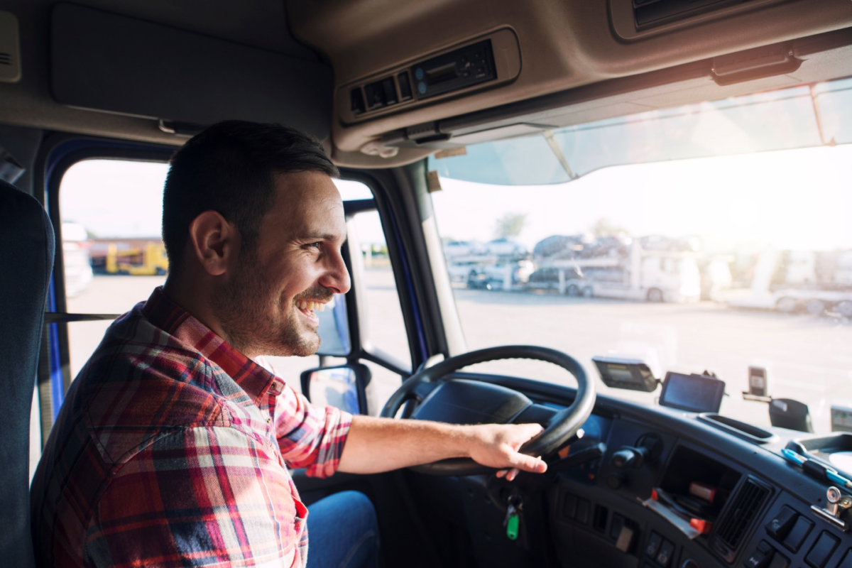truck driver smiling